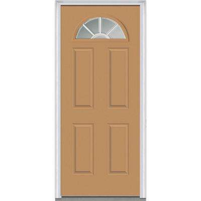 36 X 80 4 Panel Light Brown Front Doors Exterior Doors The