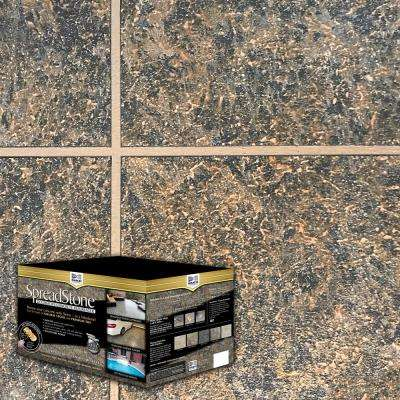 SpreadStone 2.5 gal. Cold Gold Slate Satin Interior/Exterior Decorative Concrete Resurfacing Kit