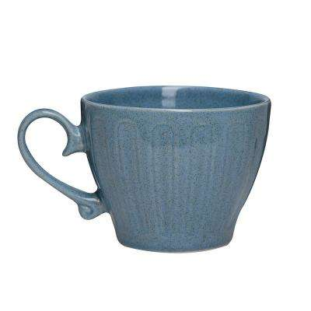 Primitive Topaz 18 oz. Blue Ceramic Coffee Mug