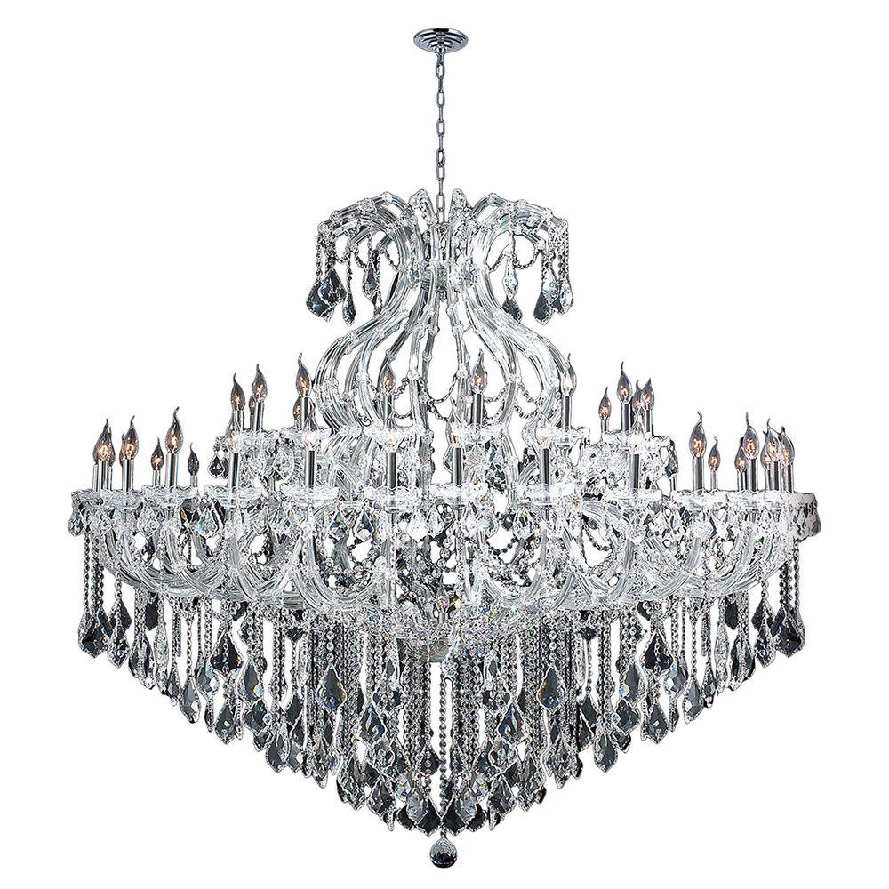 Worldwide Lighting Maria Theresa Collection 48 Light Polished Chrome Crystal Chandelier