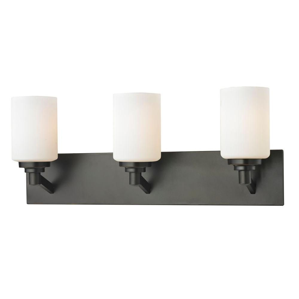 Chic 3-Light Coppery Bronze Bath Vanity Light
