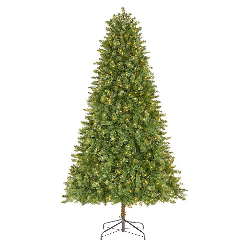 Home Accents Holiday 7 5 Ft Fenwick Pine Led Pre Lit Artificial Christmas Tree With 700 Color Changing Micro Dot Light W14n0222 The Home Depot