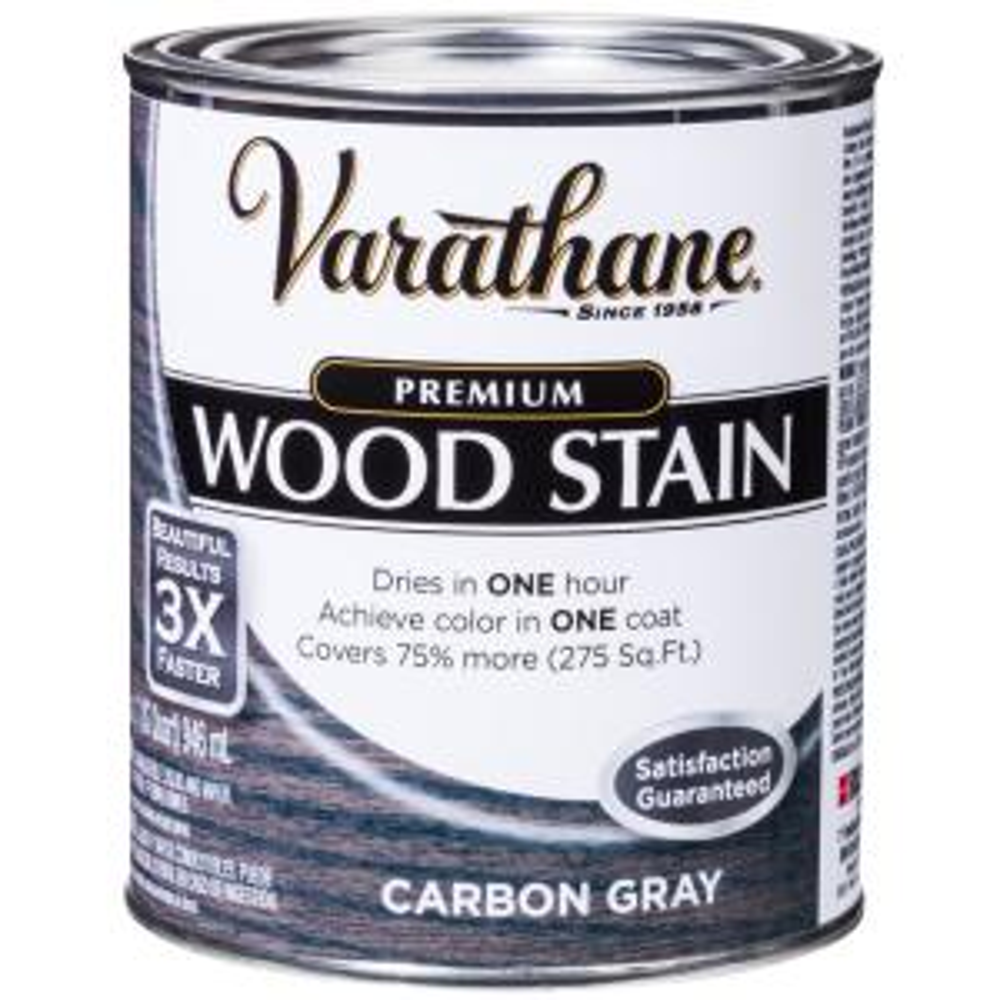1 qt. Carbon Gray Premium Fast Dry Interior Wood Stain