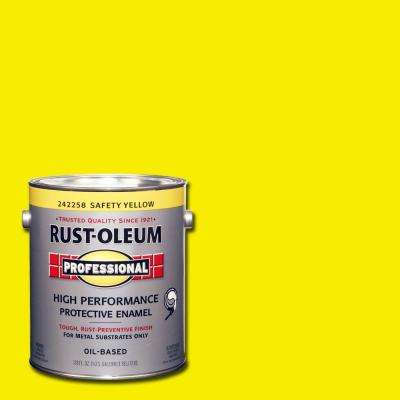 1 gal. High Performance Protective Enamel Gloss Safety Yellow Oil-Based Interior/Exterior Metal Paint (2-Pack)