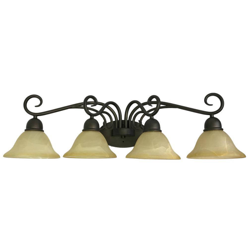 4-Light Dark Bronze Bath Light