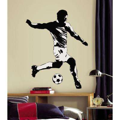 5 in. x 19 in. Soccer Player Peel and Stick Giant Wall Decal