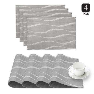 Morocco Silver Printed Fabric Placemat (Set of 4)