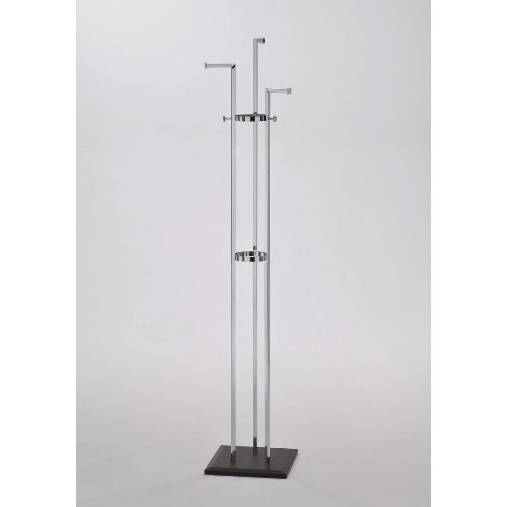 ORE International Silver 3-Hook Coat Rack