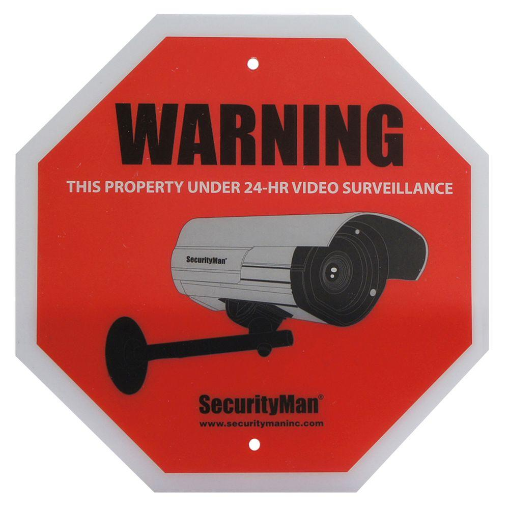 SecurityMan Surveillance Warning Sign in English (2-Pack)