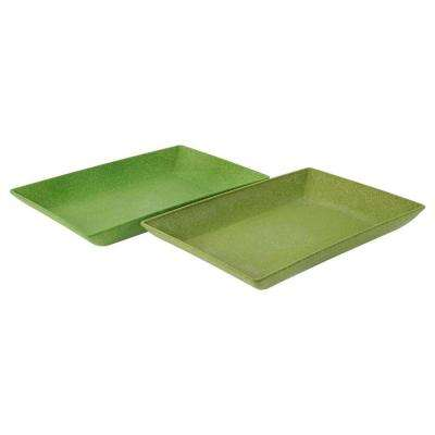EVO Sustainable Goods Green Eco-Friendly Wood-Plastic Composite Serving Dish Set (Set of 2)