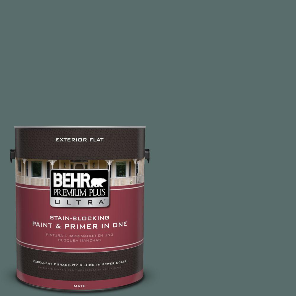 BEHR Premium Plus Ultra 1-gal. #490F-6 Agave Frond Flat Exterior Paint