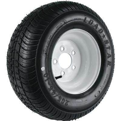 215/60-8 K399 BIAS 780 lb. Load Capacity White 8 in. Wide Profile Bias Tire and Wheel Assembly