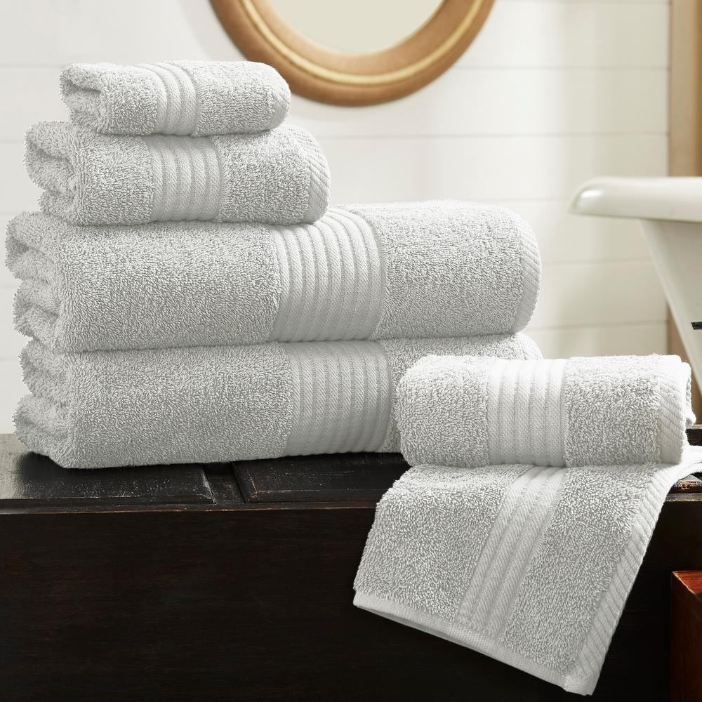 6-Piece 600 GSM Silver Hydro Soft Towel Set