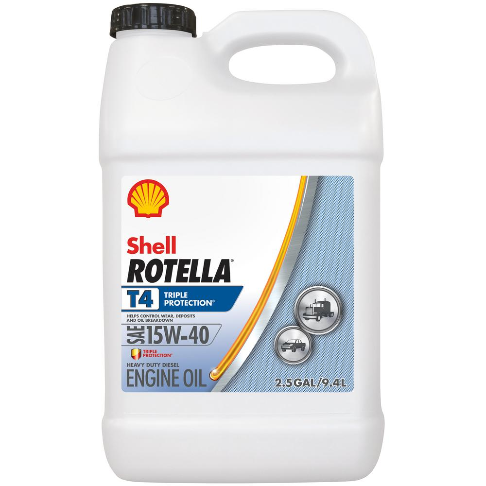 Shell rotella rotella t4 triple protection 15w 40 diesel for Motor oil 101 answers