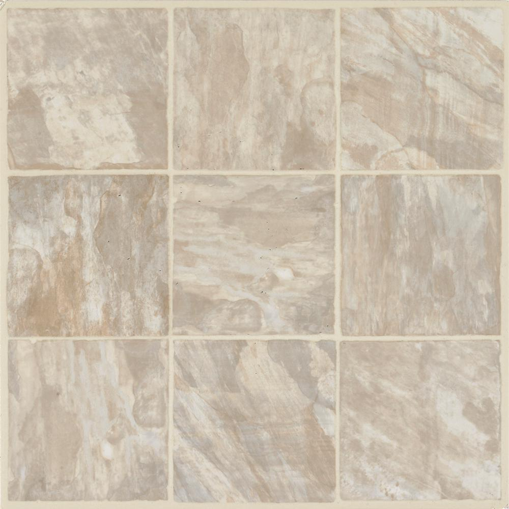 Armstrong walnut hill sand 12 in x 12 in residential for Stick on vinyl flooring