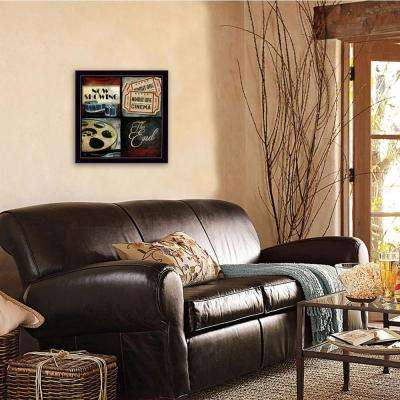 """14 in. x 14 in.""""At The Movies"""" by Mollie B. Printed Framed Wall Art"""