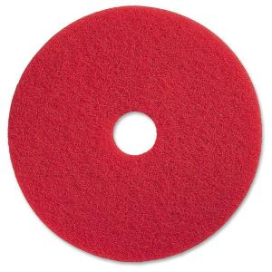 19 in. Red Buffing Floor Pad (5 per Carton)