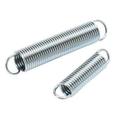 7/16 in. x 2 in. and 9/16 in. x 3 in. Zinc Plated Extension Springs (4-Pack)