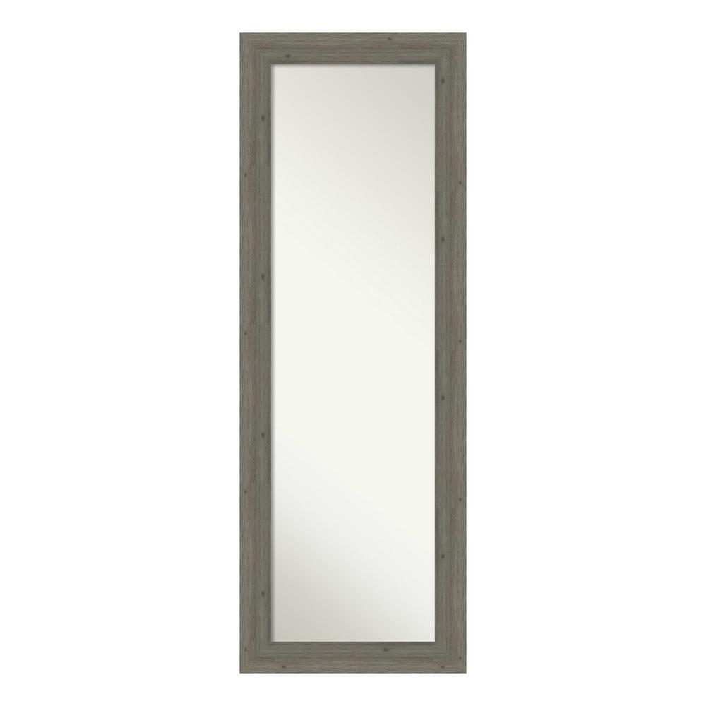 Amanti Art Fencepost Narrow Grey on the Door Mirror was $272.0 now $159.93 (41.0% off)