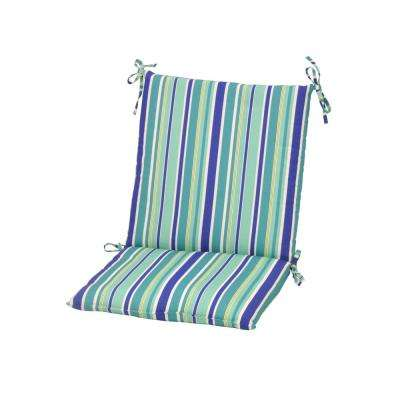 Striped Blue Outdoor Cushions Patio Furniture The Home Depot