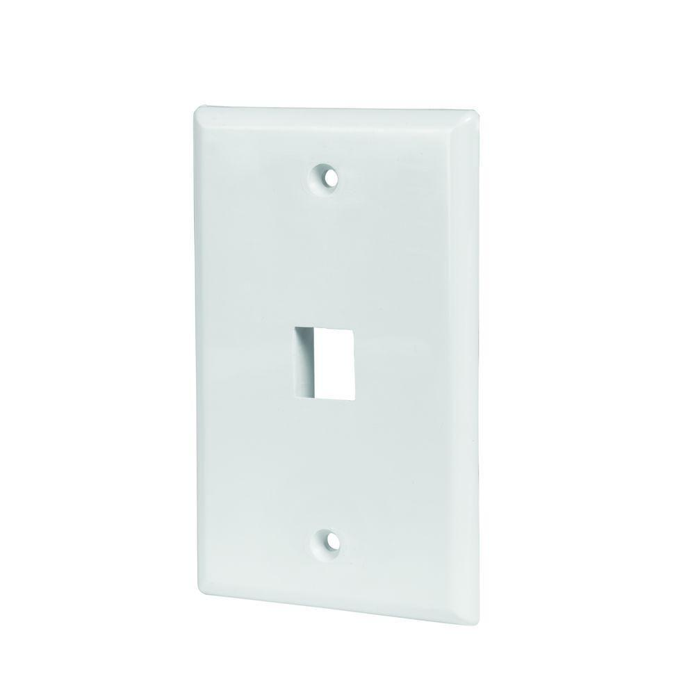 Electrical Wall Plates : Commercial electric port wall plate white wh