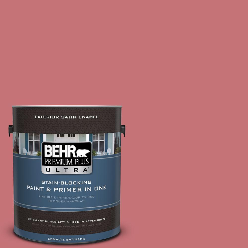 BEHR Premium Plus Ultra 1-gal. #150D-5 Deep Bloom Satin Enamel Exterior Paint
