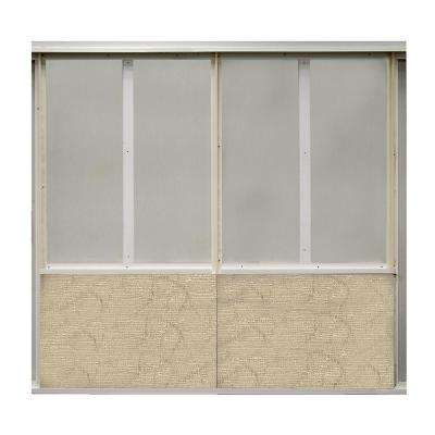 20 sq. ft. Latte Fabric Covered Bottom Kit Wall Panel