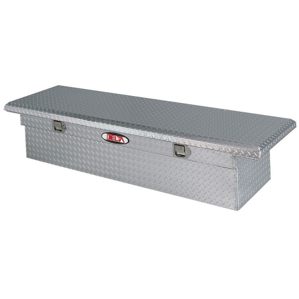 70 Diamond Plate Aluminum Full Size Crossbed Truck Tool Box