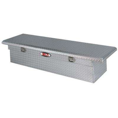 70 in. Aluminum Low Profile Single Lid Full Size Crossover Tool Box in Bright