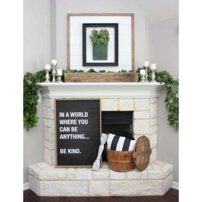 "25.5 in. W x 37.5 in. H ""Be Kind"" by JLB Printed Framed Wall Art"