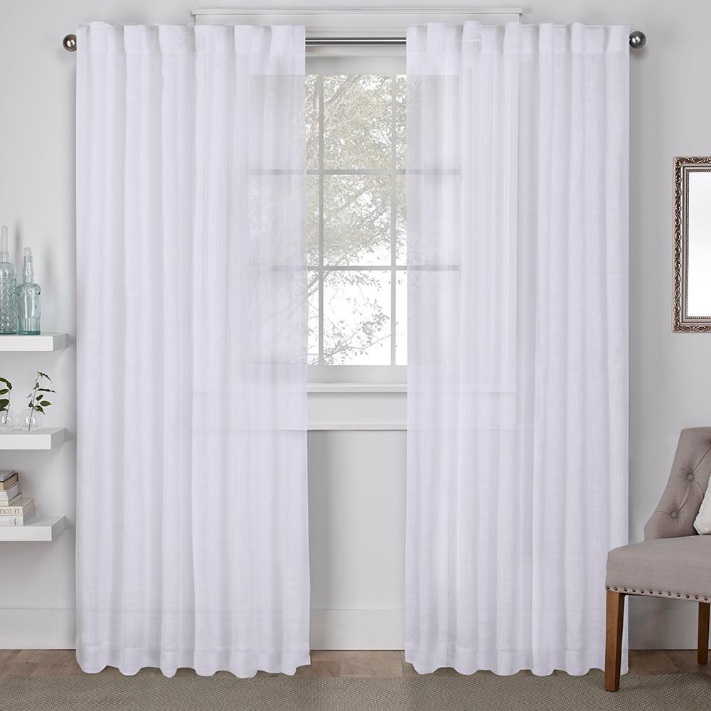 Bella Winter White Hidden Tab Top Window Curtain