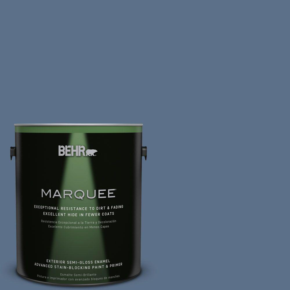 BEHR MARQUEE 1-gal. #S520-6 Layers of Ocean Semi-Gloss Enamel Exterior Paint