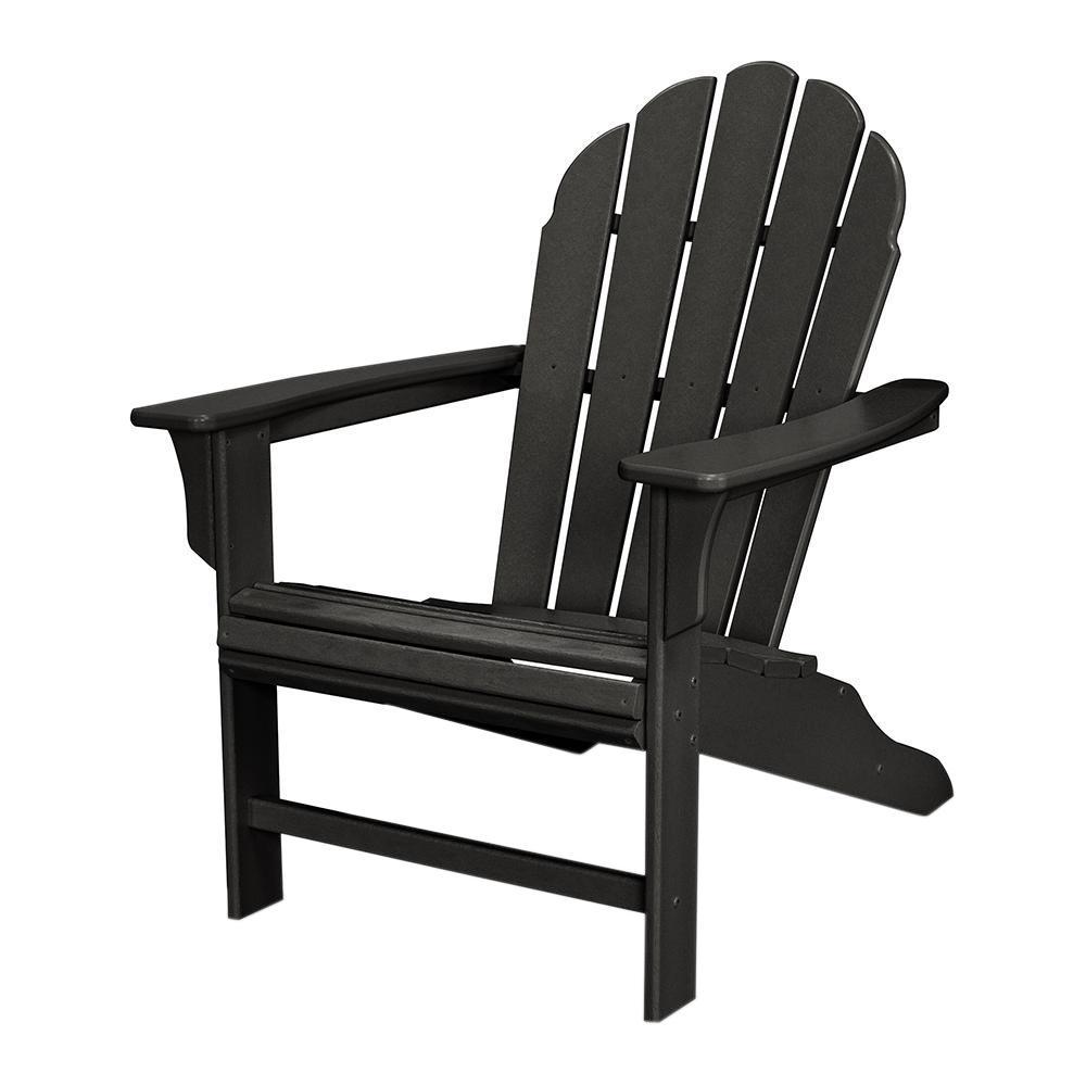 HD Patio Adirondack Chair in Charcoal Black