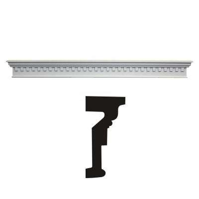 2-7/8 in. x 6 in. x 60 in. Primed Polyurethane Dentil Cross Head Moulding