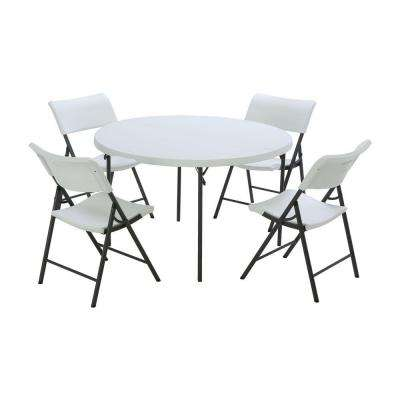 Table and Chair Set - White - Folding Tables & Chairs - Kitchen ...