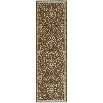 Riviera Dark Chocolate 2 ft. x 8 ft. Runner Rug