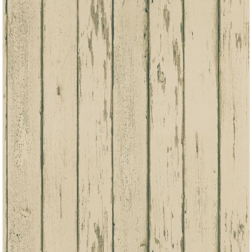 Northwoods Lodge Beige Weathered Plank Wallpaper Sample