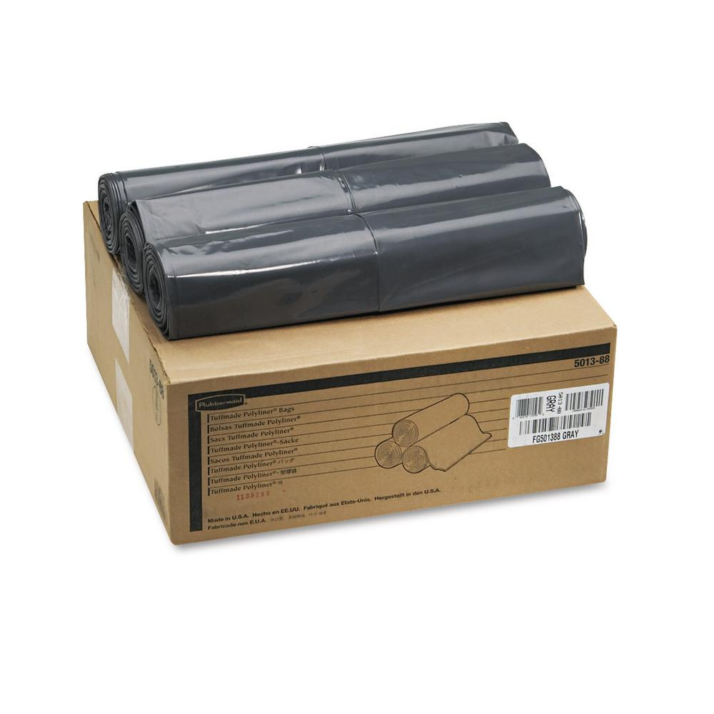 Rubbermaid 56 Gal. Linear Low Density Can Liners 100 Bags