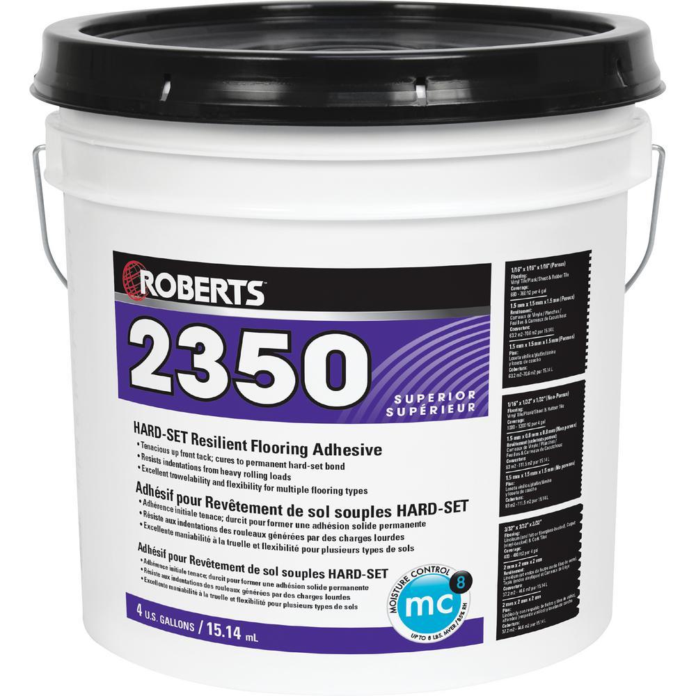 4 Gal. Hard-Set Resilient Flooring Adhesive