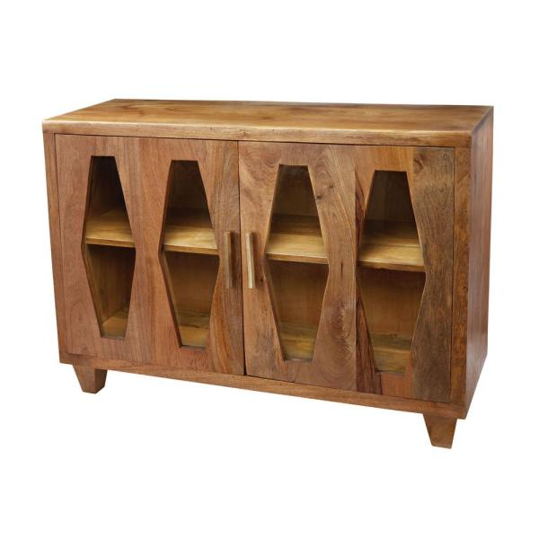 Titan Lighting Natural Mango Storage Cabinets