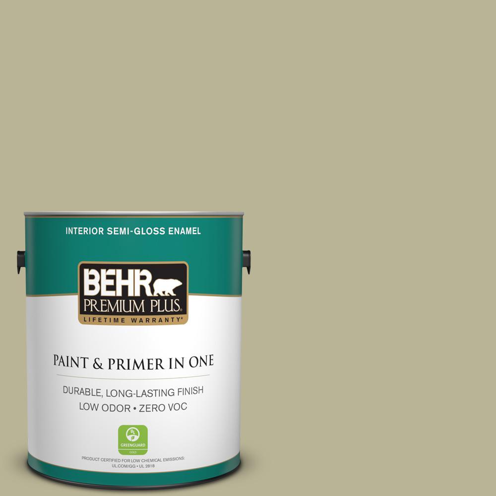 1 gal. #PPU9-09 Seedling Zero VOC Semi-Gloss Enamel Interior Paint