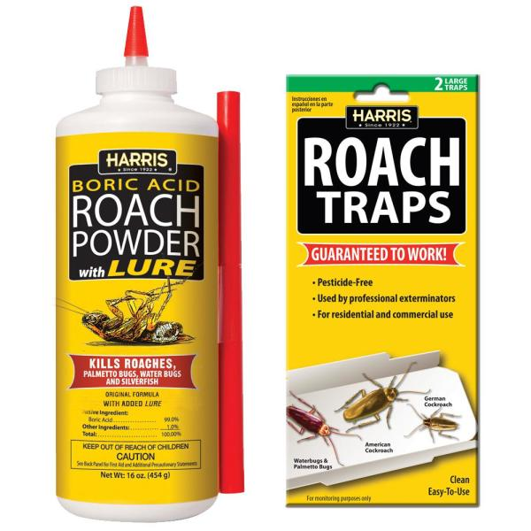 16 oz. Roach Powder and Roach Trap Value Pack