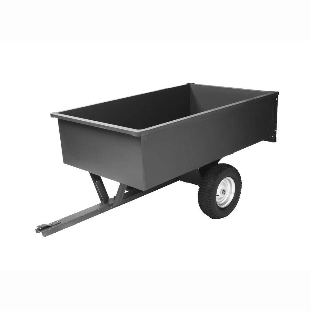 Precision 17 cu. ft. Steel Trailing Dump Cart