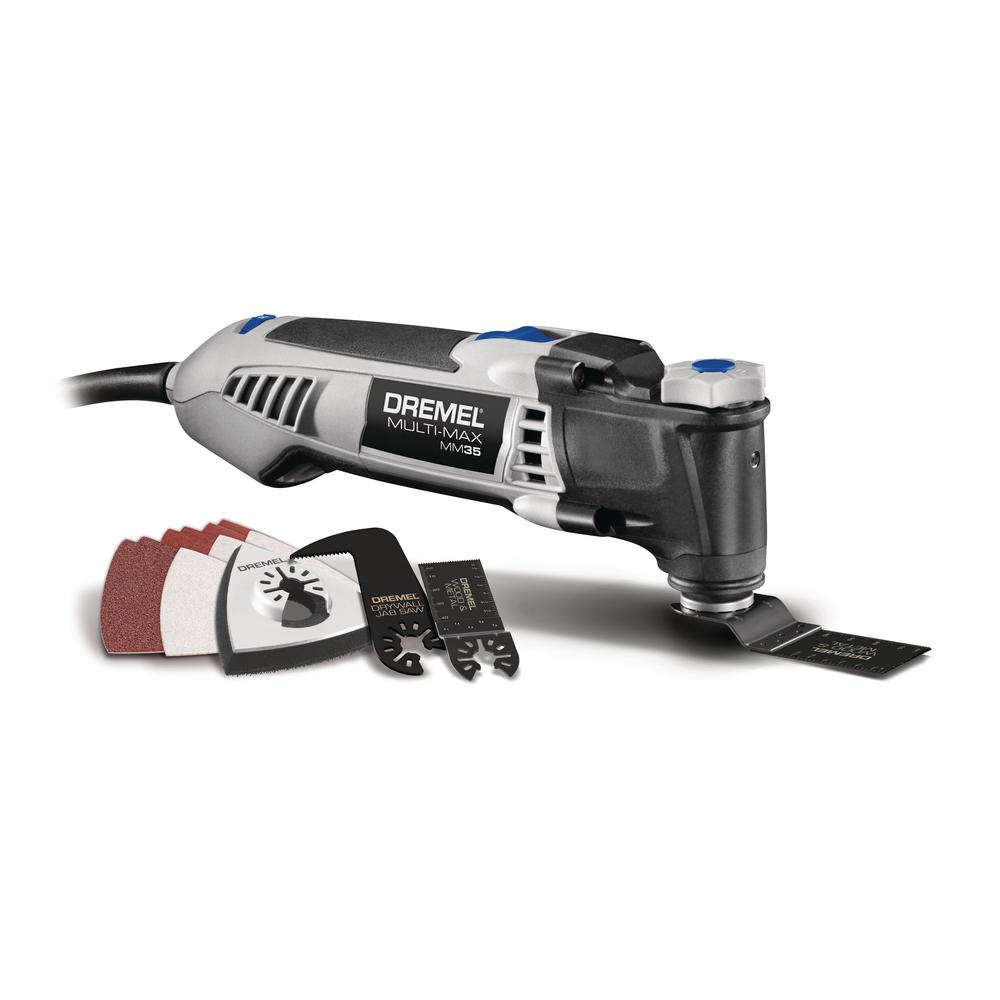Dremel Multi-Max 3.5 Amp Variable Speed Corded Oscillating Multi-Tool Kit with 12 Accessories and Storage Bag