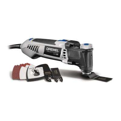 Multi-Max 3.5 Amp Variable Speed Corded Oscillating Multi-Tool Kit with 12 Accessories and Storage Bag