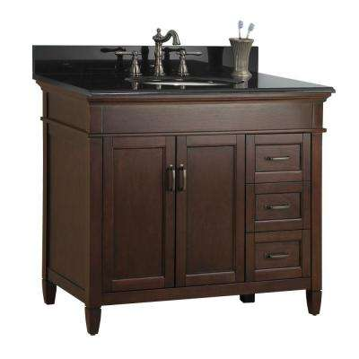 Charming D Bath Vanity In Mahogany With Right