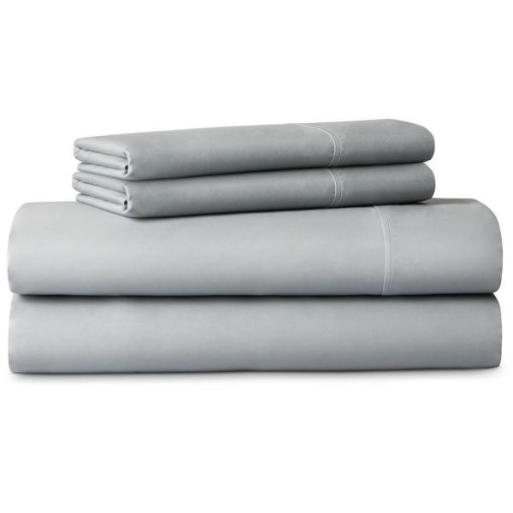 LUCID 4-Piece Brushed Microfiber Gray Cal King Sheet Set LU90CKASMS