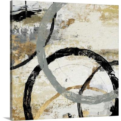 """""""Gold and Black Rings II"""" by Tom Reeves Canvas Wall Art"""