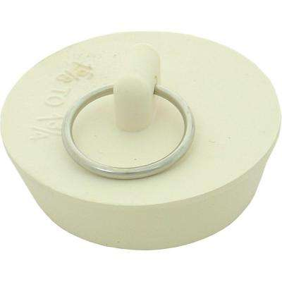 1-5/8 in. to 1-3/4 in. Rubber Drain Stopper in White (Duo Fit)