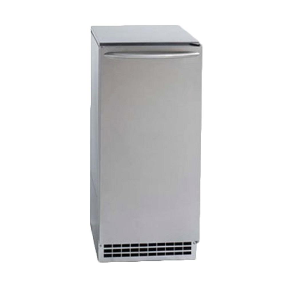 ICE-O-MATIC 15 in. 85 lb. Freestanding Ice Maker in Stain...